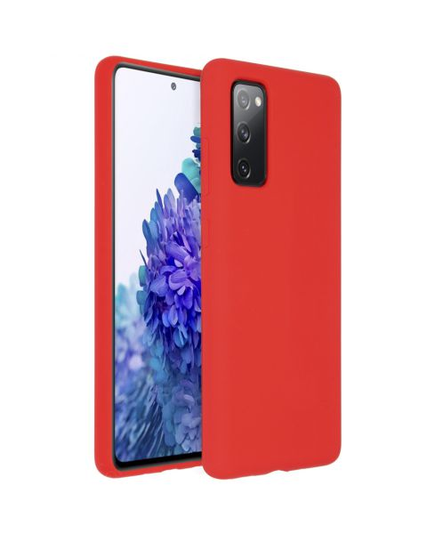 Liquid Silicone Backcover Samsung Galaxy S20 FE - Rood - Rood / Red