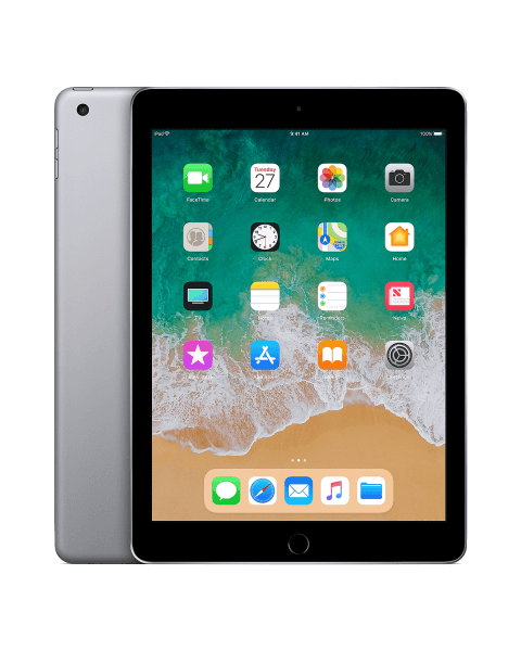 Refurbished iPad 2018 128 GB WiFi + 4G Schwarz