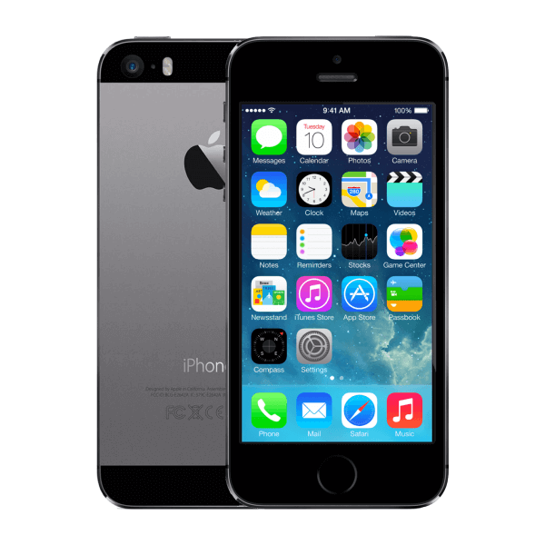 Refurbished iPhone 5S 16GB Schwarz/Space Grau