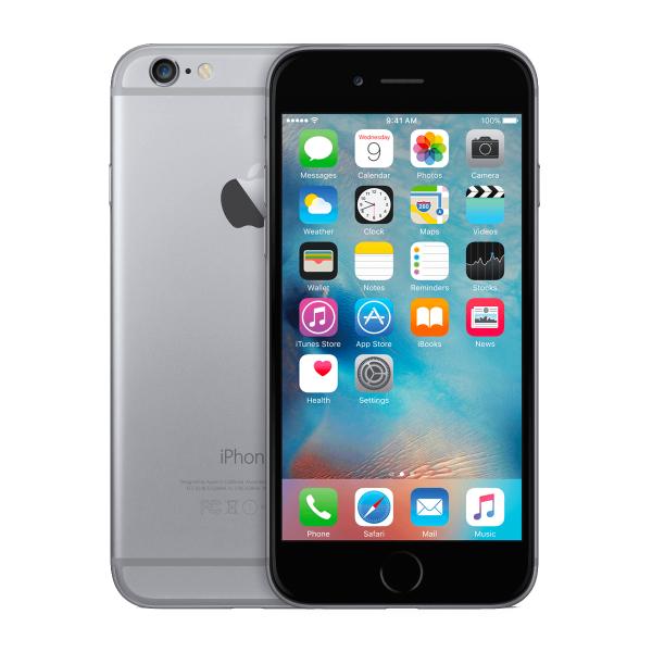 Refurbished iPhone 6 128GB Schwarz/Space Grau